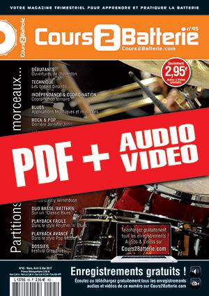 Cours 2 Batterie n°45 (pdf + mp3 + vidéos)