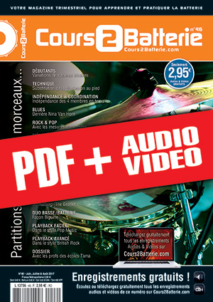 Cours 2 Batterie n°46 (pdf + mp3 + vidéos)