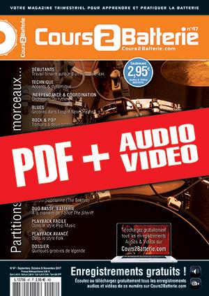 Cours 2 Batterie n°47 (pdf + mp3 + vidéos)