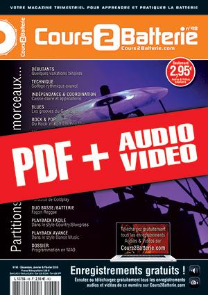Cours 2 Batterie n°48 (pdf + mp3 + vidéos)