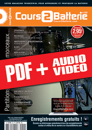 Cours 2 Batterie n°50 (pdf + mp3 + vidéos)