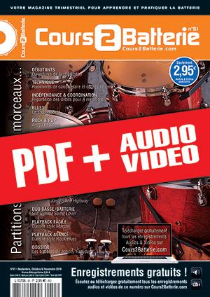 Cours 2 Batterie n°51 (pdf + mp3 + vidéos)