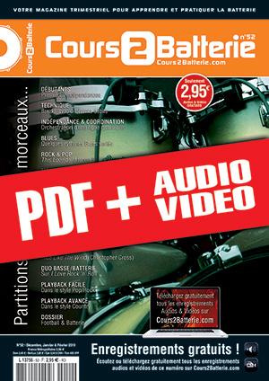 Cours 2 Batterie n°52 (pdf + mp3 + vidéos)