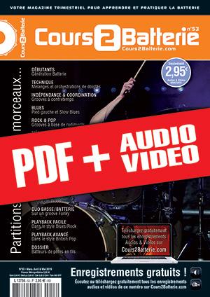 Cours 2 Batterie n°53 (pdf + mp3 + vidéos)