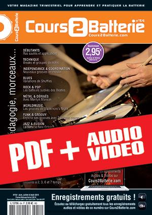 Cours 2 Batterie n°54 (pdf + mp3 + vidéos)