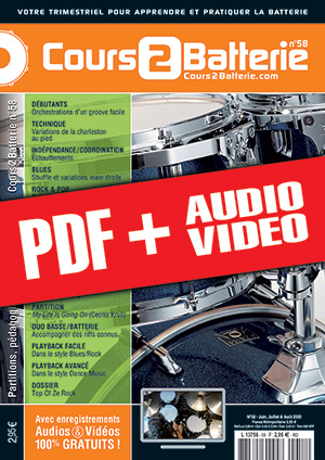 Cours 2 Batterie n°58 (pdf + mp3 + vidéos)