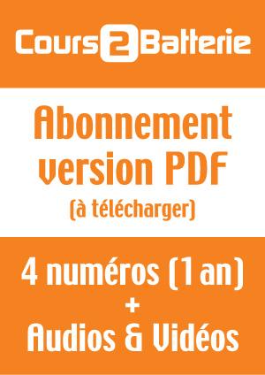 Abonnement Cours 2 Batterie (Version PDF)