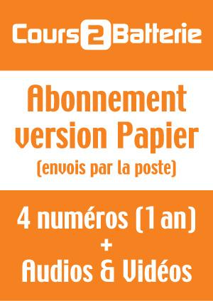 Abonnement Cours 2 Batterie (Version Papier) - France