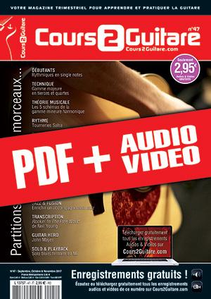 Cours 2 Guitare n°47 (pdf + mp3 + vidéos)