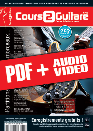 Cours 2 Guitare n°48 (pdf + mp3 + vidéos)