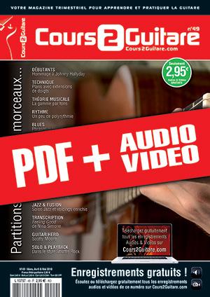 Cours 2 Guitare n°49 (pdf + mp3 + vidéos)