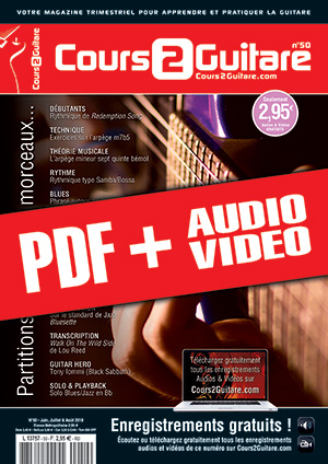 Cours 2 Guitare n°50 (pdf + mp3 + vidéos)