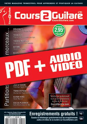 Cours 2 Guitare n°51 (pdf + mp3 + vidéos)