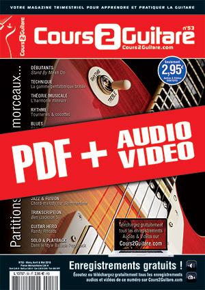 Cours 2 Guitare n°53 (pdf + mp3 + vidéos)