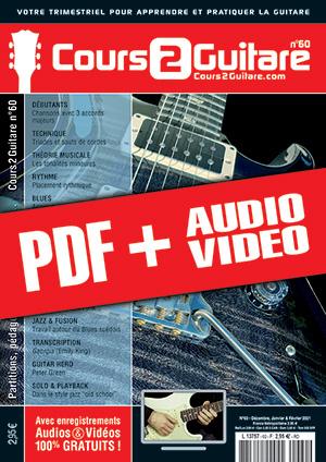 Cours 2 Guitare n°60 (pdf + mp3 + vidéos)