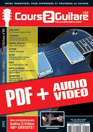 Cours 2 Guitare n°62 (pdf + mp3 + vidéos)