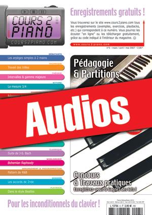 Enregistrements du Cours 2 Piano n°5