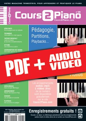 Cours 2 Piano n°28 (pdf + mp3 + vidéos)