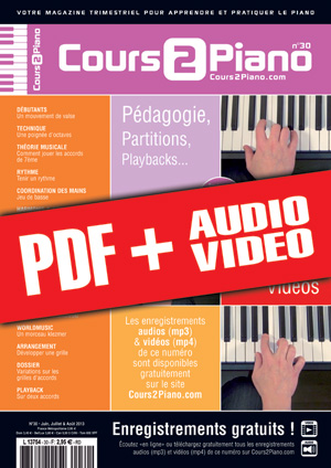 Cours 2 Piano n°30 (pdf + mp3 + vidéos)