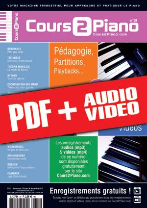 Cours 2 Piano n°31 (pdf + mp3 + vidéos)