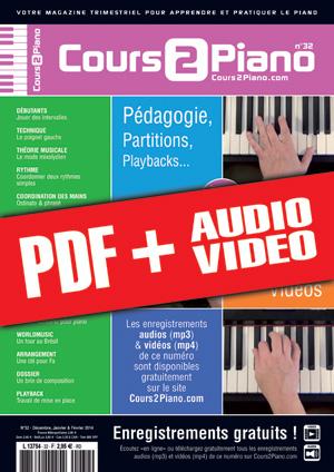 Cours 2 Piano n°32 (pdf + mp3 + vidéos)