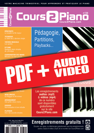 Cours 2 Piano n°33 (pdf + mp3 + vidéos)