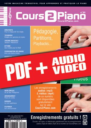 Cours 2 Piano n°34 (pdf + mp3 + vidéos)