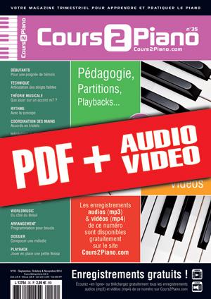 Cours 2 Piano n°35 (pdf + mp3 + vidéos)