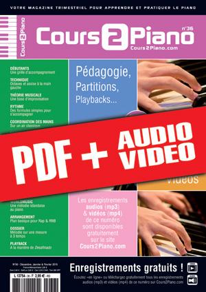 Cours 2 Piano n°36 (pdf + mp3 + vidéos)