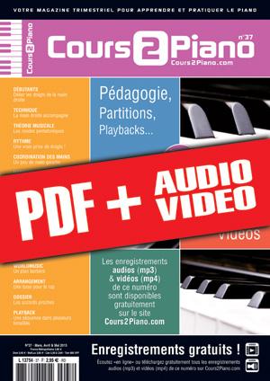 Cours 2 Piano n°37 (pdf + mp3 + vidéos)