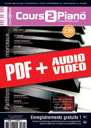 Cours 2 Piano n°38 (pdf + mp3 + vidéos)