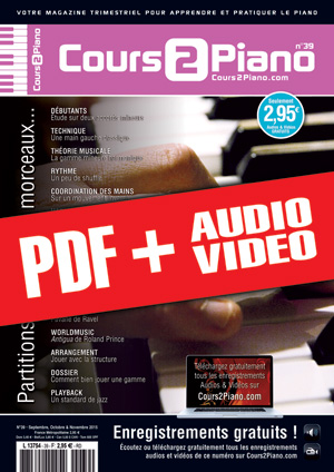 Cours 2 Piano n°39 (pdf + mp3 + vidéos)