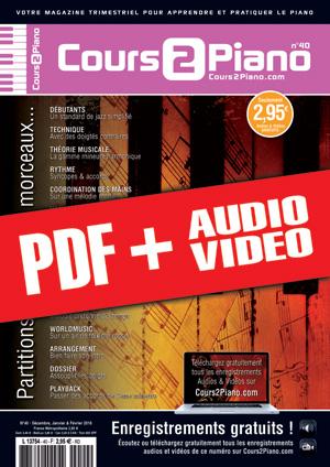Cours 2 Piano n°40 (pdf + mp3 + vidéos)