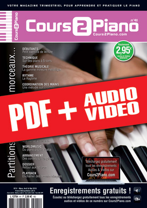 Cours 2 Piano n°41 (pdf + mp3 + vidéos)