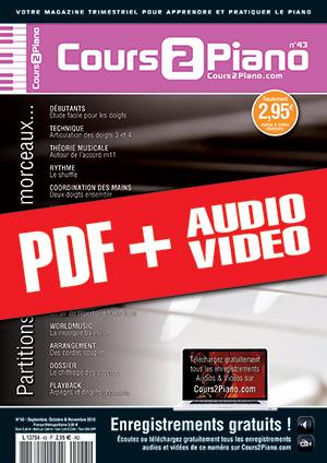 Cours 2 Piano n°43 (pdf + mp3 + vidéos)