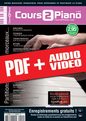 Cours 2 Piano n°44 (pdf + mp3 + vidéos)