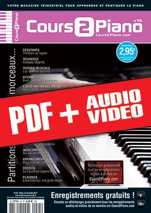 Cours 2 Piano n°45 (pdf + mp3 + vidéos)