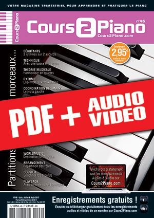 Cours 2 Piano n°46 (pdf + mp3 + vidéos)
