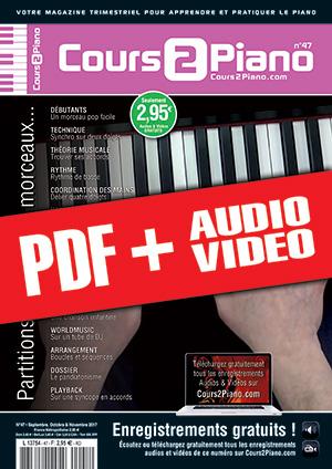 Cours 2 Piano n°47 (pdf + mp3 + vidéos)