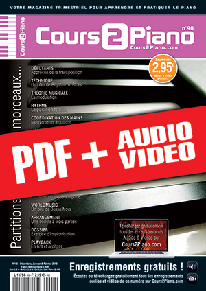 Cours 2 Piano n°48 (pdf + mp3 + vidéos)