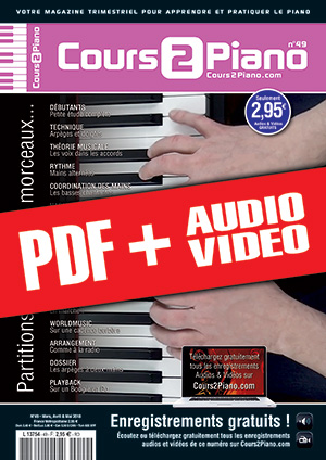 Cours 2 Piano n°49 (pdf + mp3 + vidéos)