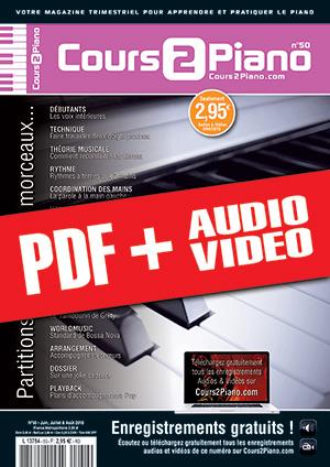 Cours 2 Piano n°50 (pdf + mp3 + vidéos)