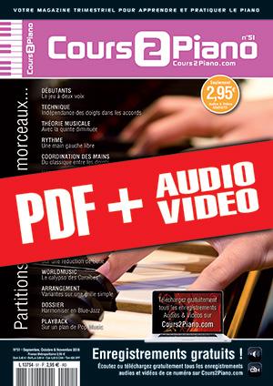 Cours 2 Piano n°51 (pdf + mp3 + vidéos)