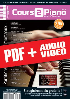 Cours 2 Piano n°53 (pdf + mp3 + vidéos)