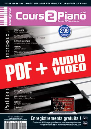 Cours 2 Piano n°54 (pdf + mp3 + vidéos)
