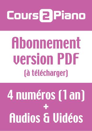 Abonnement Cours 2 Piano (Version PDF)
