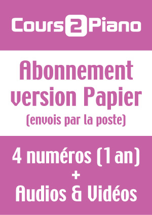 Abonnement Cours 2 Piano (Version Papier) - France
