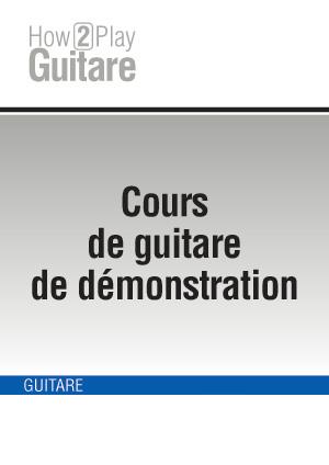 Cours de guitare de démonstration