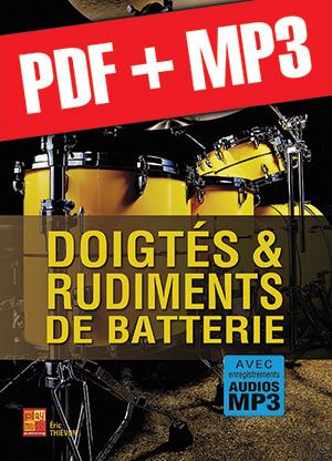 Doigtés & rudiments de batterie (pdf + mp3)