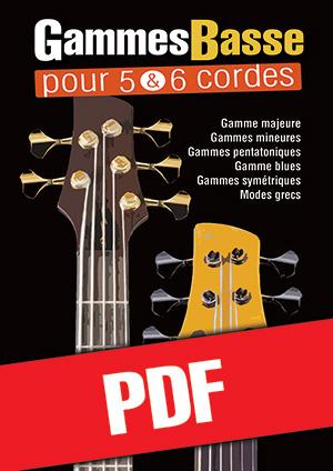 Gammes Basse pour 5 & 6 cordes (pdf + mp3)